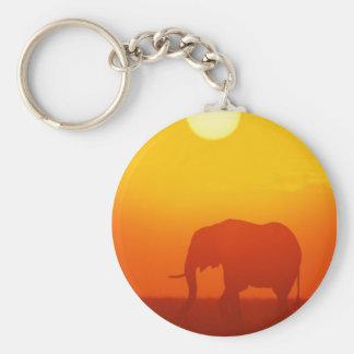 Elefante de la puesta del sol llavero