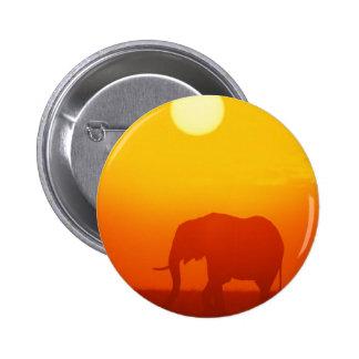 Elefante de la puesta del sol pin