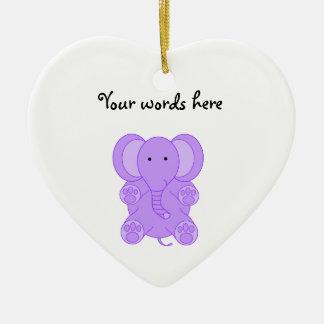 Elefante de la púrpura del bebé ornamentos para reyes magos