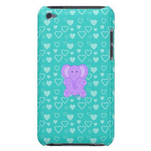 Elefante de la púrpura del bebé barely there iPod funda