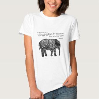 Elefante de la sabiduría de la alheña de Buda Camisas