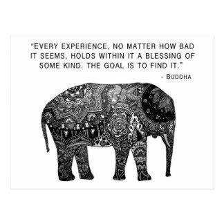 Elefante de la sabiduría de la alheña de Buda Postales