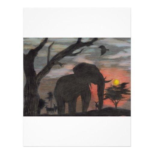 Elefante de la sombra tarjetas informativas