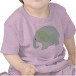 Elefante de la verde menta del bebé camiseta