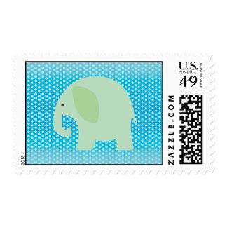 Elefante de la verde menta en azul envio