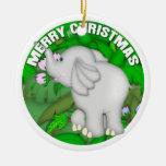 Elefante de las Felices Navidad Ornamentos De Reyes Magos