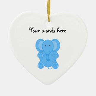 Elefante de los azules cielos ornamentos para reyes magos