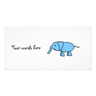 Elefante de los azules cielos tarjetas personales con fotos