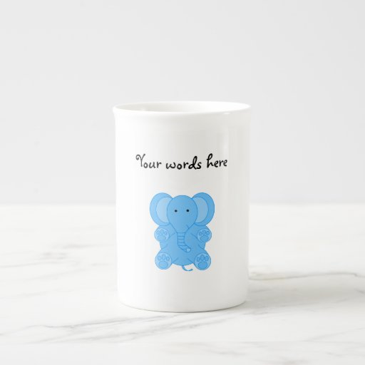 Elefante de los azules cielos tazas de porcelana