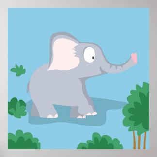Elefante de mi serie de los animales del mundo posters