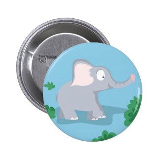 Elefante de mi serie de los animales del mundo pin redondo de 2 pulgadas