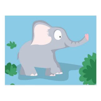 Elefante de mi serie de los animales del mundo postales