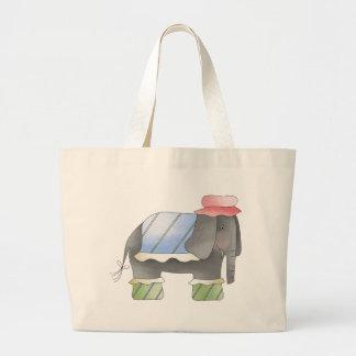 Elefante de moda bolsas lienzo