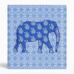 Elefante de Paisley - azul y blanco de cobalto