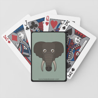 Elefante de papel cartas de juego