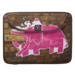 Elefante de papel rosado funda para macbook pro