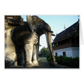 Elefante de piedra tarjeta de felicitación