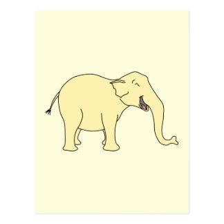Elefante de risa Amarillo Postal
