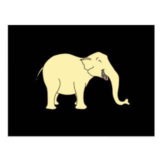 Elefante de risa Amarillo Tarjeta Postal