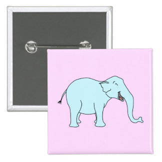 Elefante de risa de la turquesa pins