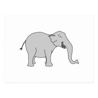 Elefante de risa gris Historieta Postales