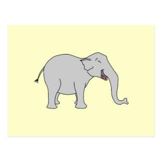Elefante de risa gris Historieta Tarjetas Postales