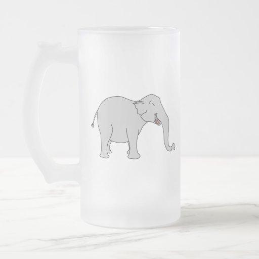 Elefante de risa gris. Historieta Taza Cristal Mate