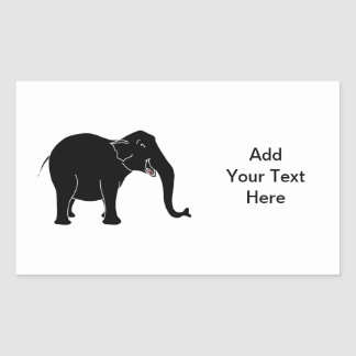 Elefante de risa negro pegatina