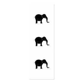 Elefante de risa negro tarjetas de visita mini