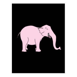Elefante de risa rosado tarjetas postales