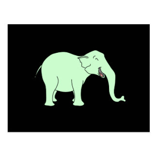Elefante de risa verde Historieta Postales