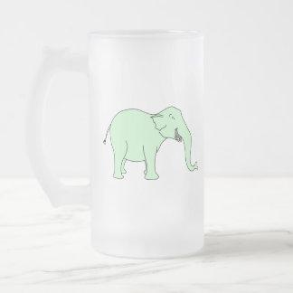 Elefante de risa verde. Historieta Taza De Café