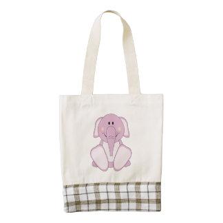 Elefante de rosas bebés de Cutelyn Bolsa Tote Zazzle HEART