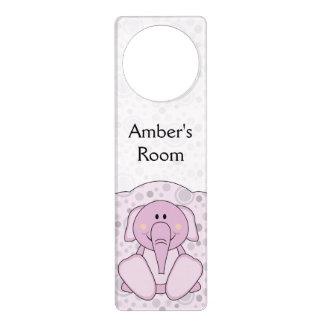 Elefante de rosas bebés de Cutelyn Colgantes Para Puertas
