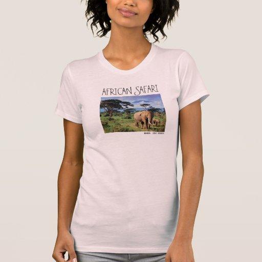 Elefante de Sketchley de Ladie Camisetas