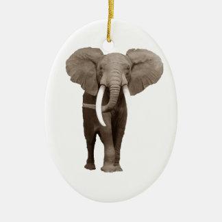 Elefante Adorno Ovalado De Cerámica