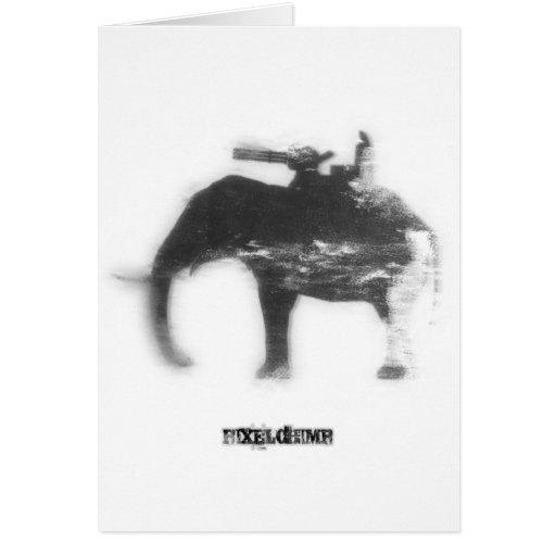 Elefante del aerosol de la plantilla tarjeta de felicitación