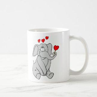 ¡Elefante del amor Taza