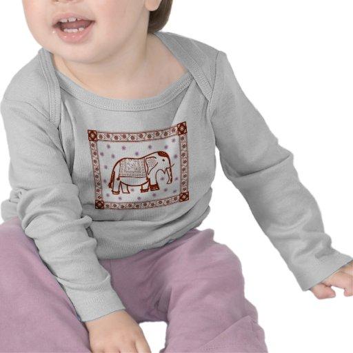 Elefante del arte del Hindi Camisetas