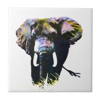 Elefante del arte pop azulejo cuadrado pequeño
