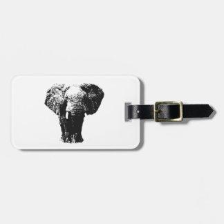 Elefante del arte pop etiquetas para equipaje