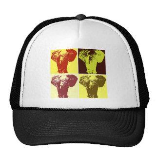 Elefante del arte pop gorros