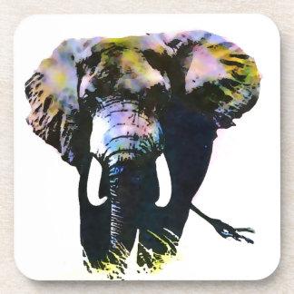 Elefante del arte pop posavaso