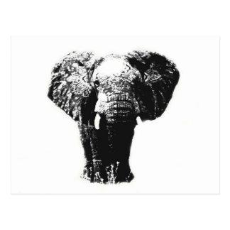 Elefante del arte pop postal
