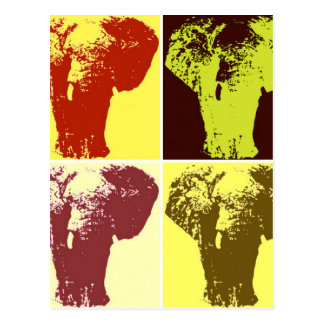 Elefante del arte pop tarjeta postal