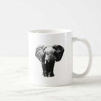 Elefante del arte pop taza