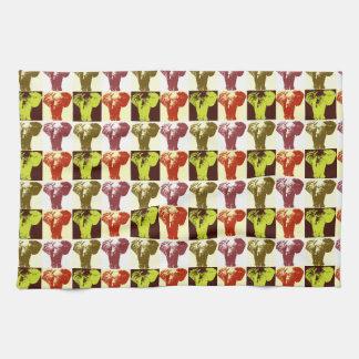 Elefante del arte pop toalla de cocina