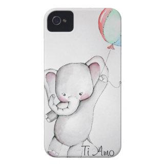 Elefante del bebé con el caso del iPhone 4 del glo iPhone 4 Case-Mate Carcasa