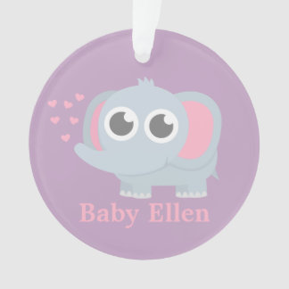 Elefante del bebé con la decoración del sitio del