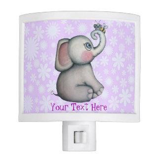 Elefante del bebé con la luz de la noche del mejor luz de noche